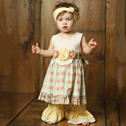Mustard Pie Sweet Pea Olivia 2pc Dress Set (**Now up to size 6X**)