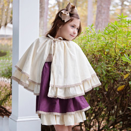 Evie's Closet  Linen 2pc Dress w/Cape