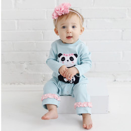 Lemon Loves Lime Layette Panda Romper