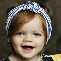 Mustard Pie English Blue Gidget Headwrap - Blue Stripe