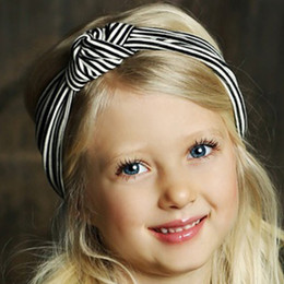 Mustard Pie English Blue Gidget Headwrap - Black Stripe
