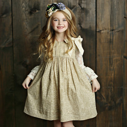 Mustard Pie English Blue Gabby Dress - Sand (*New Style!*) (*Top Sold Separately*)