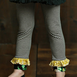 Mustard Pie English Blue Griffin Legging - Black Stripe