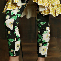 Mustard Pie English Blue Sargent Legging - Black Floral