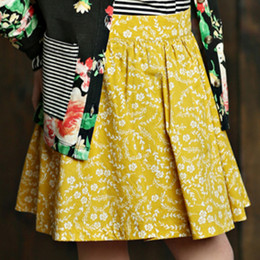 Mustard Pie English Blue Emerson Skirt - Golden