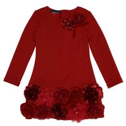 Biscotti Ruffles and Roses Rose Hem Dress