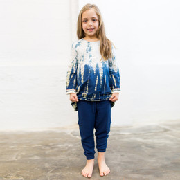 Joyous & Free Big Sky Kai Top - Navy Tie Dye