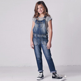 Jak & Peppar Blue Jean Baby Overalls - Medium Wash