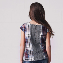 Jak & Peppar Buttercup Top -Washed Plaid