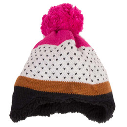Catimini Graphic City All Fire And Flame Pom Pom Hat