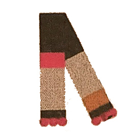 Catimini Graphic City All Fire And Flame Pom Pom Scarf