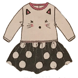 Catimini Graphic City All Fire And Flame Cat Dress
