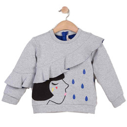 Catimini Creative Test The Water Raindrop Sweatshirt