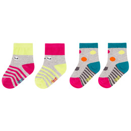 Deux Par Deux Owl You Need Is Love Socks - 2 pairs