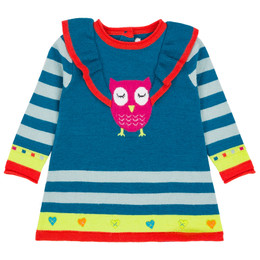 Deux Par Deux Owl You Need Is Love Knit Tunic