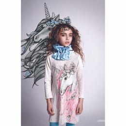 Paper Wings Frilled Shift Dress - Winter Unicorn
