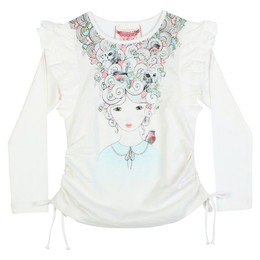 Paper Wings Frilled Drawstring Tee - Modern Marie