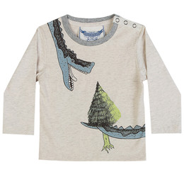 Paper Wings Little Wings Classic Long Sleeve Tee - Light Snack