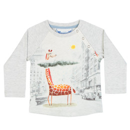 Paper Wings Little Wings Raglan Long Sleeve Tee - All Clear