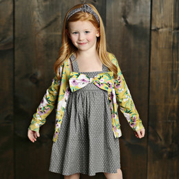 Mustard Pie Vintage Violet Juniper Dress - Grey Dot (*Cardigan Sold Separately*)