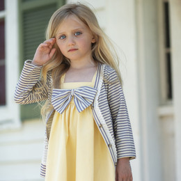 Little Prim Emma Cardigan - Ticking Stripe