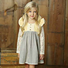 Little Prim Adelaide Dress - Ticking Stripe (*Lace Top Sold Separately*)