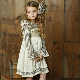 Little Prim Isadora Dress - Ticking Stripe (*Striped Top Sold Separately*)