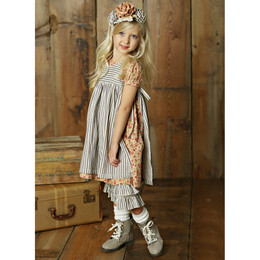 Little Prim Eva Dress - Rose Garden (*Striped Apron Sold Separately*)
