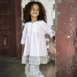 Little Prim Evie Dress - Petal