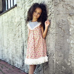 Little Prim Lucy Dress - Rose Garden (*Lace Top Sold Separately*)