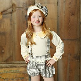 Little Prim Nelly Bloomers - Ticking Stripe (*Top Sold Separately*)