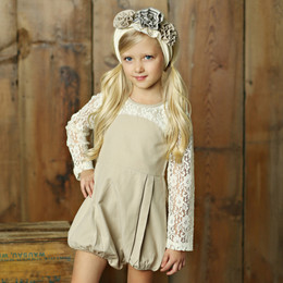 Little Prim Pearl Romper - Linen (*Lace Top Sold Separately*)