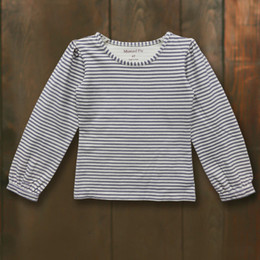 Little Prim Opal Top - Ticking Stripe