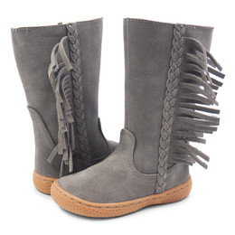 Livie & Luca Sonoma Boots - Gray Suede (Fall 2018)