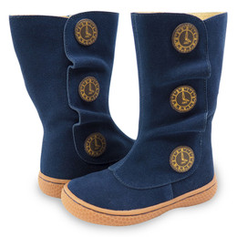 Livie & Luca Tiempo Boots - Navy Blue Suede (Fall 2018)