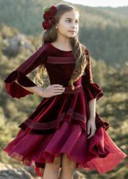 Joyfolie Ida Dress - Berry