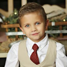 Mustard Pie Holiday Boy's Necktie - Ruby