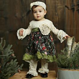 Mustard Pie Holiday Olivia 2pc Dress  Set - Holly Vanilla