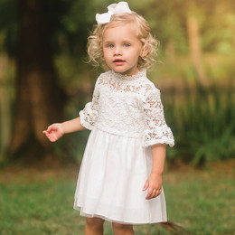 Evie's Closet Linen Lace Dress