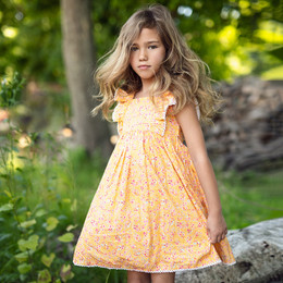 Mustard Pie  Summer Glen Tangerine Dress