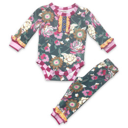 Mustard Pie  Summer Glen Chloe 2pc Onesie & Pant Set (*New Style!*)