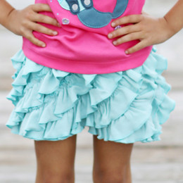 Lemon Loves Lime Ruffle Skort - Pastel Turquoise