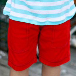 Lemon Loves Lime Gnu Brand Cargo Shorts - True Red
