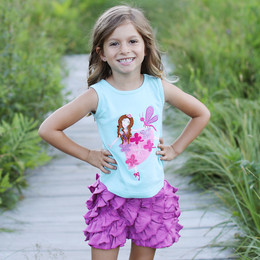 Lemon Loves Lime Dragonfly Fairy Dance Tank  - Pastel Turquoise
