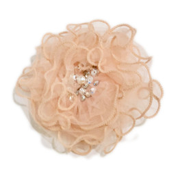 Ooh La La Couture Enchanted Forest Flower Clip - Peach