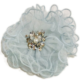Ooh La La Couture Enchanted Forest Flower Clip - Blue