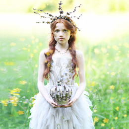 Ooh La La Couture  Enchanted Forest Forest Princess Dress - Moonbeam