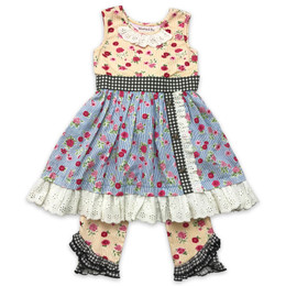 Mustard Pie  Strawberry Fields Olivia 2pc Dress & Legging Set (*Now Up To Size 12!*)