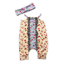Mustard Pie  Strawberry Fields Stella 2pc Romper Set