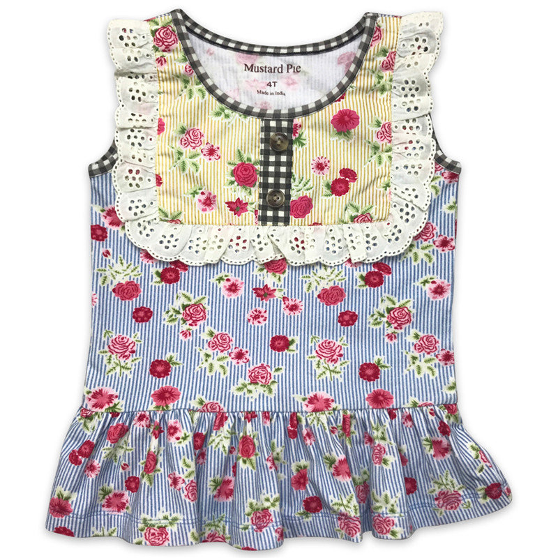 07c3f70ae ... Mustard Pie Strawberry Fields Molly Ruffle Top. Image 1